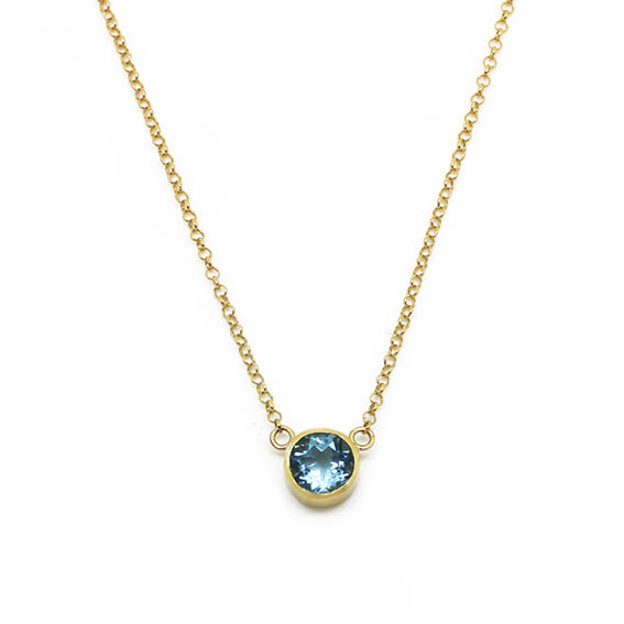 Colar ponto de luz em ouro 18k e topázio azul   Fran Bagatini d79abffd17